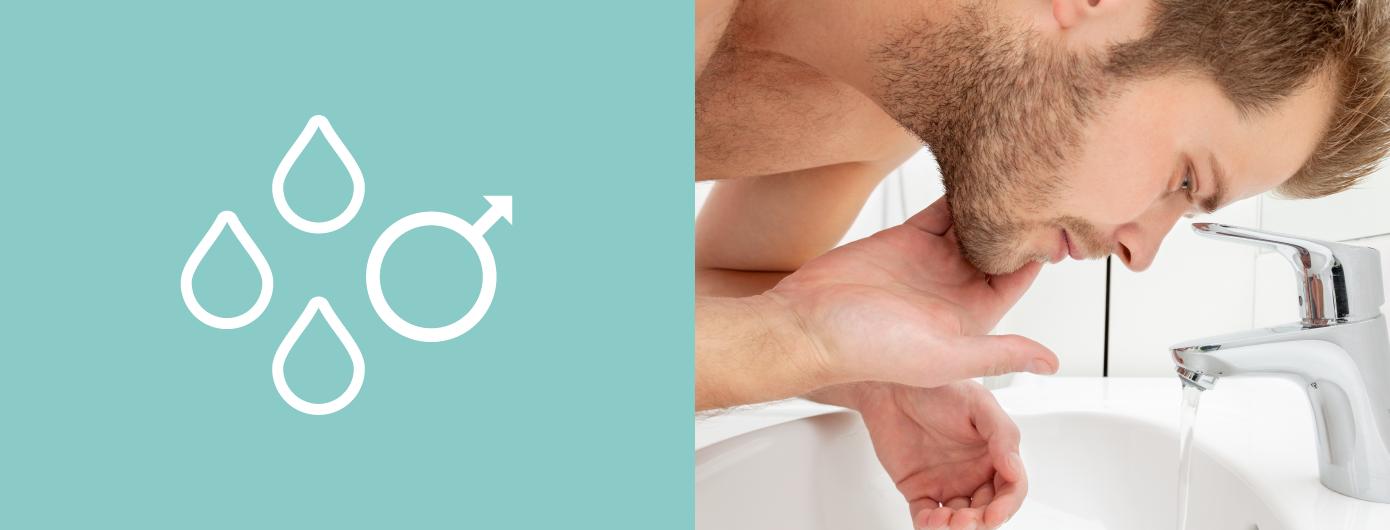 Oleosidade da pele do homem: A pele do homem é duas vezes mais oleosa