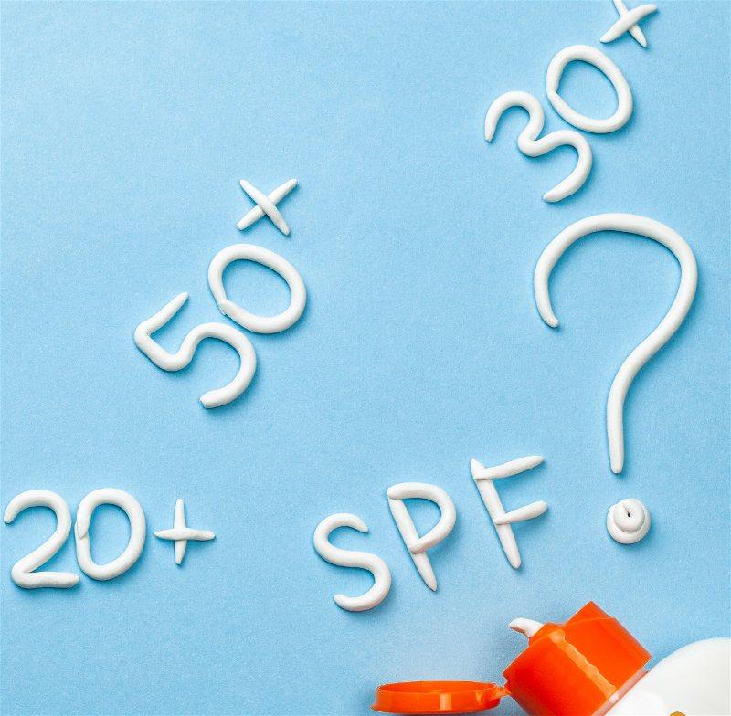 Imagem ilustrativa contendo os diferentes tipos de fatores de proteção solar